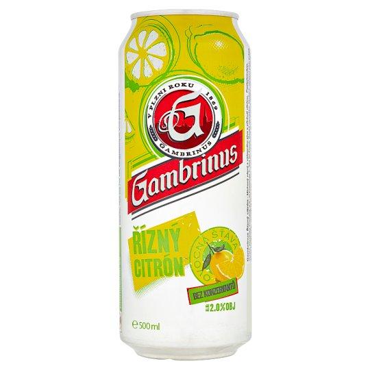 Gambrinus Racy Lemon Mixed Drink from Beer 500ml