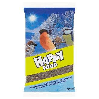Happy Food Slunečnice černá doplňkové krmivo pro ptáky 500g