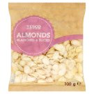 Tesco Almonds Blanched & Sliced 100g