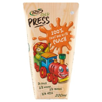 RIO FRESH 100% Fruit Mix with Peaches 200ml with Straw