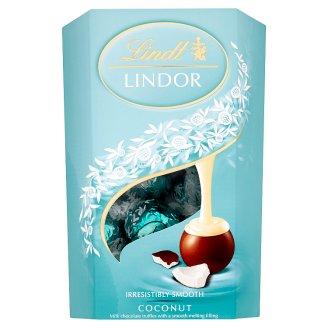 Lindt Lindor Mléčná čokoláda s jemnou kokosovou náplní 200g