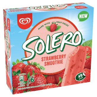 Solero Smoothie Jahoda zmrzlina 6 x 55ml