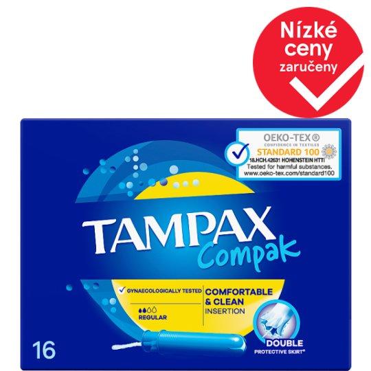 Tampax Compak Regular Tampony S Aplikátorem 16 ks