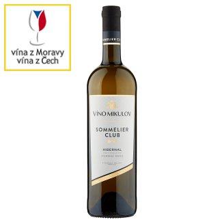 Víno Mikulov Sommelier Club Víno s přívlastkem Hibernal pozdní sběr polosuché bílé 0,75l