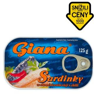 Giana Sardinky ve slunečnicovém oleji s chilli 125g