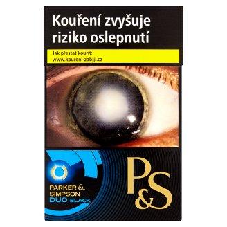 Parker & Simpson Duo black cigarety s filtrem 20 ks