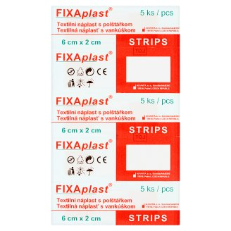 Fixaplast Strips Textile Patch with Pillow 5 pcs