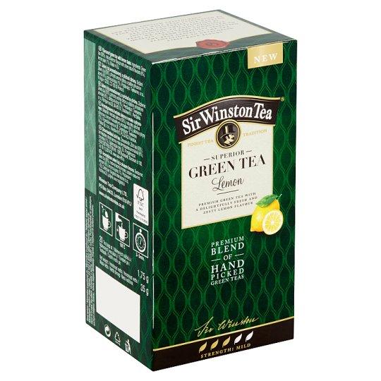 Sir Winston Tea Green Tea Lemon, 20 sáčků 35g