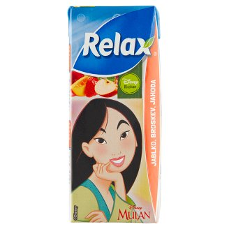 Relax Fruit Drink Apple, Peach, Strawberry 200ml