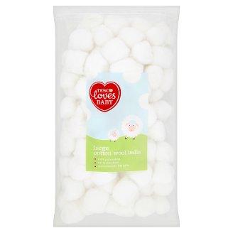 Tesco Loves Baby Large Cotton Wool Balls 110g