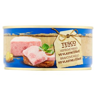 Tesco Pork Meat in Own Juice 300g