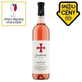 Templářské Sklepy Čejkovice André rosé růžové polosladké víno 0,75l