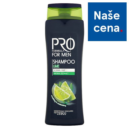 Tesco Pro Formula For Men Šampón pro muže Lime 400ml