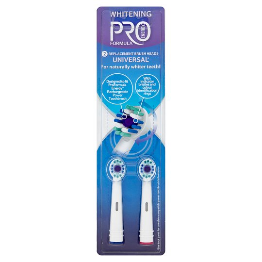 Tesco Pro Formula Replacement Head for Electric Toothbrush Whitening 2 pcs