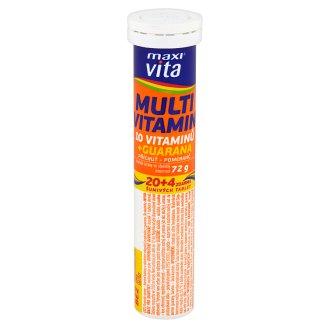 MaxiVita Multivitamin 10 vitaminů + guarana příchuť pomeranč 24 šumivých tablet 72g