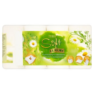 Tesco Soft Luxury Toaletní papír s heřmánkem 8 rolí