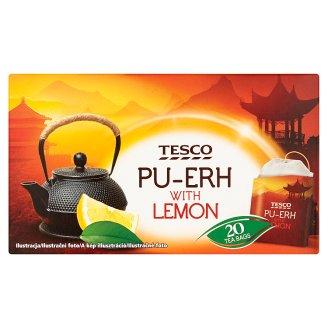 Tesco Pu-Erh čaj s citronovou příchutí 20 x 1,7g