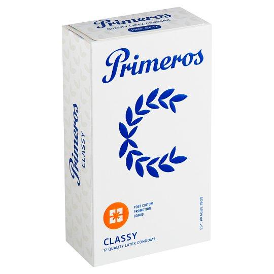 Primeros Classic kondomy s rozšířeným anatomickým tvarem a svěží vůní, 12 ks
