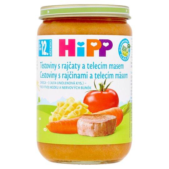 HiPP Bio těstoviny s rajčaty a telecím masem 220g