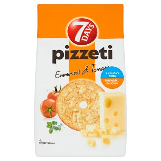 7 Days Pizzeti Snack with Emmental Cheese and Tomato 80g