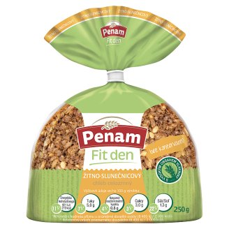 Penam Fit Rye-Bread Whole Wheat Sunflower 250g