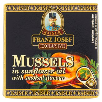 Kaiser Franz Josef Exclusive Mussels in Sunflower Oil with Smoked Flavor 80g
