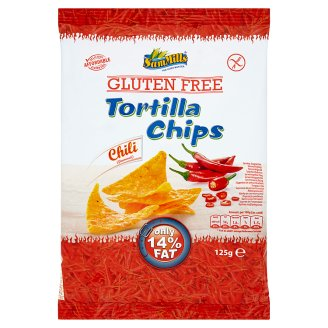 Sam Mills Gluten Free Tortilla Chips with Chili Flavour 125g