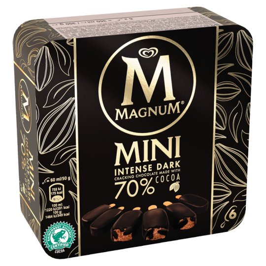 Magnum Mini Intense Dark Chocolate Ice Cream 6 x 55ml