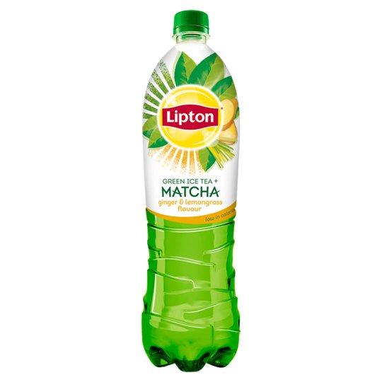 Lipton Ice Tea Matcha ledový čaj zelený s příchutí zázvoru a citronové trávy 1,5l