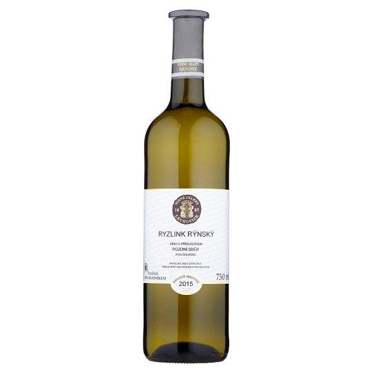 Vinné Sklepy Lechovice Ryzlink rýnský víno s přívlastkem pozdní sběr polosladké bílé 750ml