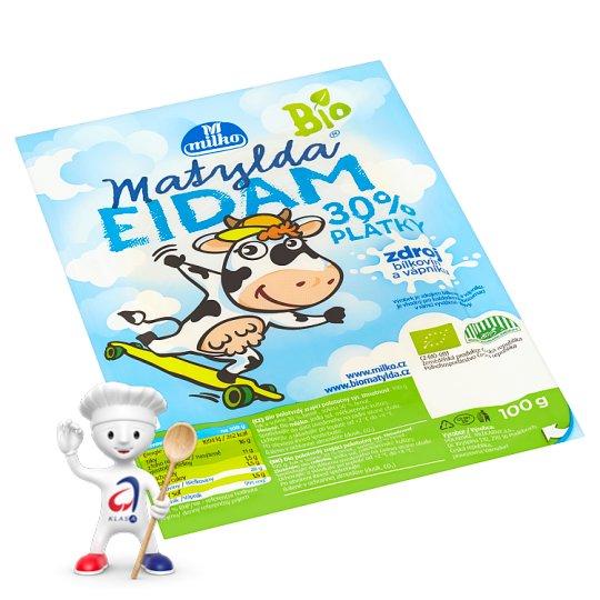 Milko Matylda Organic Eidam 30% Slices 100g