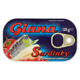 Giana Sardinky v tomatové omáčce 125g