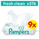 Pampers Fresh Clean Vlhčené Ubrousky 9x64 ks