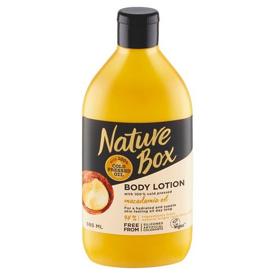 Nature Box tělové mléko Macadamia Oil 385ml