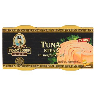 Kaiser Franz Josef Exclusive Tuna Steak in Sunflower Oil 2 x 80g