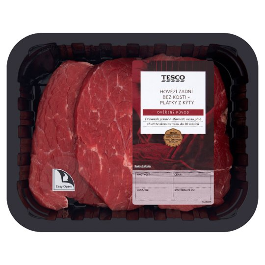 Tesco Slices from Round Steak without Bone 0.400kg