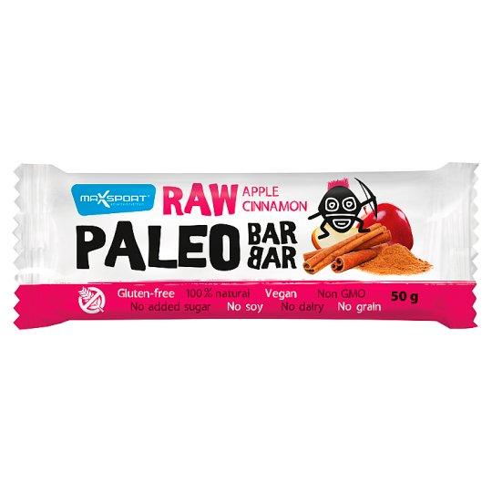 MaxSport Paleo Raw tyčinka s jablky a skořicí 50g