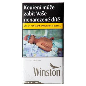 Winston Silver 100 cigarety s filtrem 20 ks