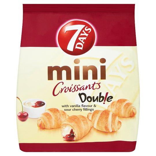 7 Days Doub!e Mini Croissant with Vanilla Flavour & Sour Cherry Fillings 200g