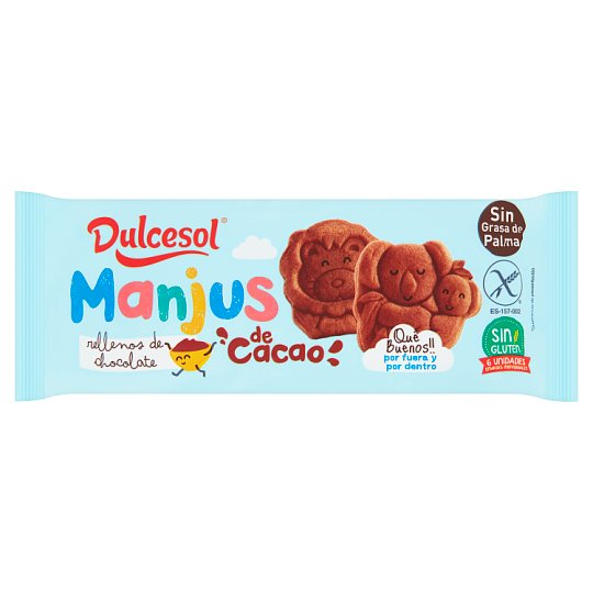Dulcesol Manjus Cacao Sponge Cake with Chocolate Filling 180g