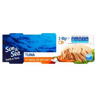 Sun & Sea Tuňák v pikantním oleji piri-piri 3 x 80g