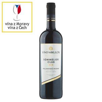 Víno Mikulov Sommelier Club Rulandské modré víno s přívlastkem pozdní sběr suché červené 0,75l