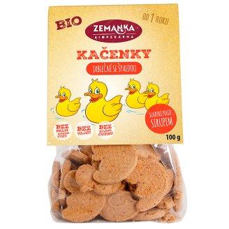 Biopekárna Zemanka Apple Organic Ducks with Spelled Flour 100g
