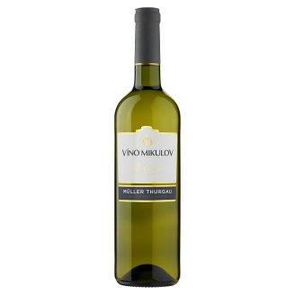 Víno Mikulov Müller Thurgau jakostní víno odrůdové suché bílé 0,75l