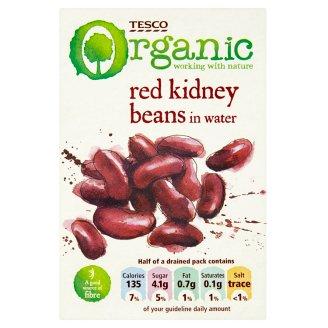 Tesco Organic Bio fazole red kidney ve vodném nálevu 380g