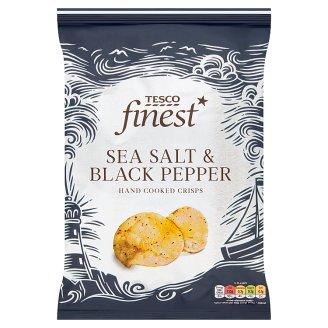 Tesco Finest Sea Salt & Black Pepper Hand Cooked Potato Crisps 150g