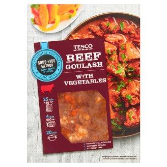 Tesco Hovězí maso na guláš pomalu vařené se zeleninou 500g