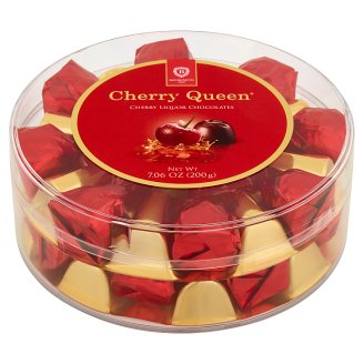 Cherry Queen Bonbony z hořké čokolády s višní v alkoholu 200g