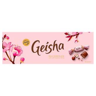 Fazer Geisha Mléčné čokoládové bonbony s náplní z lískových oříšků a nugátu 350g