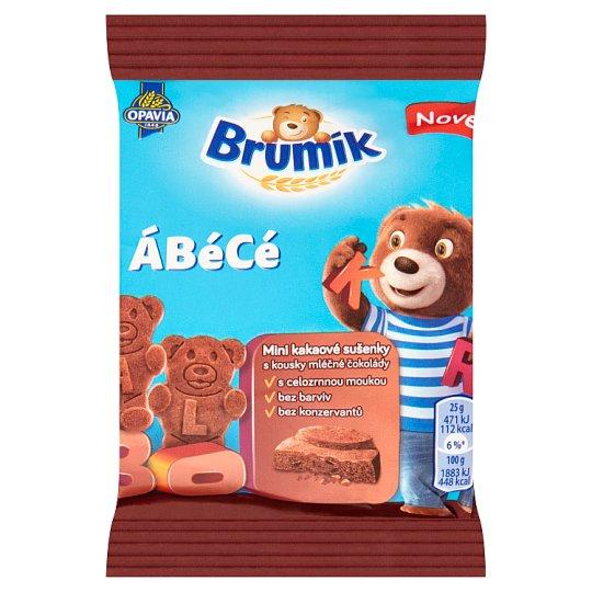 Opavia Brumík ÁBéCé mini kakaové sušenky s kousky mléčné čokolády 25g